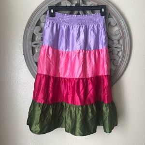 Gymboree brand colorblock skirt